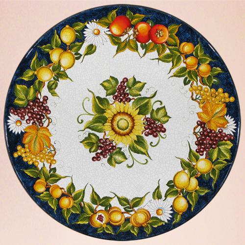 Tavoli in ceramica pietra da giardino ceramiche leoncini - Pietra lavica da tavolo ...