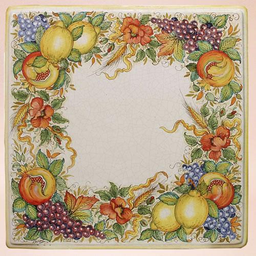 Tavoli in ceramica da giardino quadrati | Ceramiche Leoncini