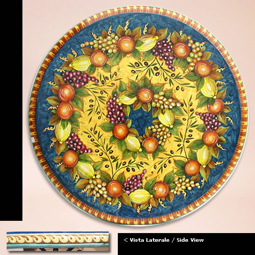 Pin Tavolino In Ceramica Artistica Con Angeli A Rilievo ...