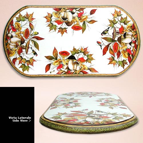 Tavoli in ceramica da giardino ovali | Ceramiche Leoncini