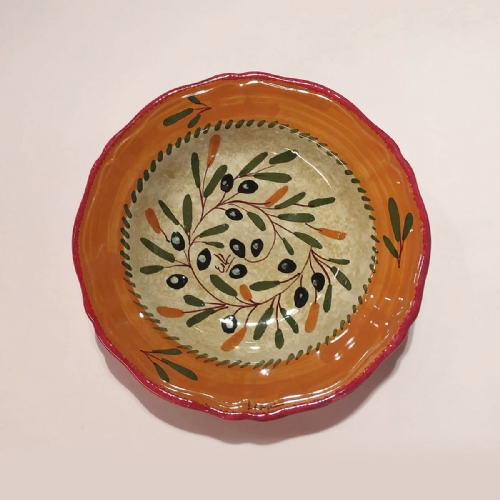 PLATES ol110 25 The finest hand-made hand-painted pottery and italian ceramic ... & Hand painted Ceramic plates dinnerware sets ol110 25