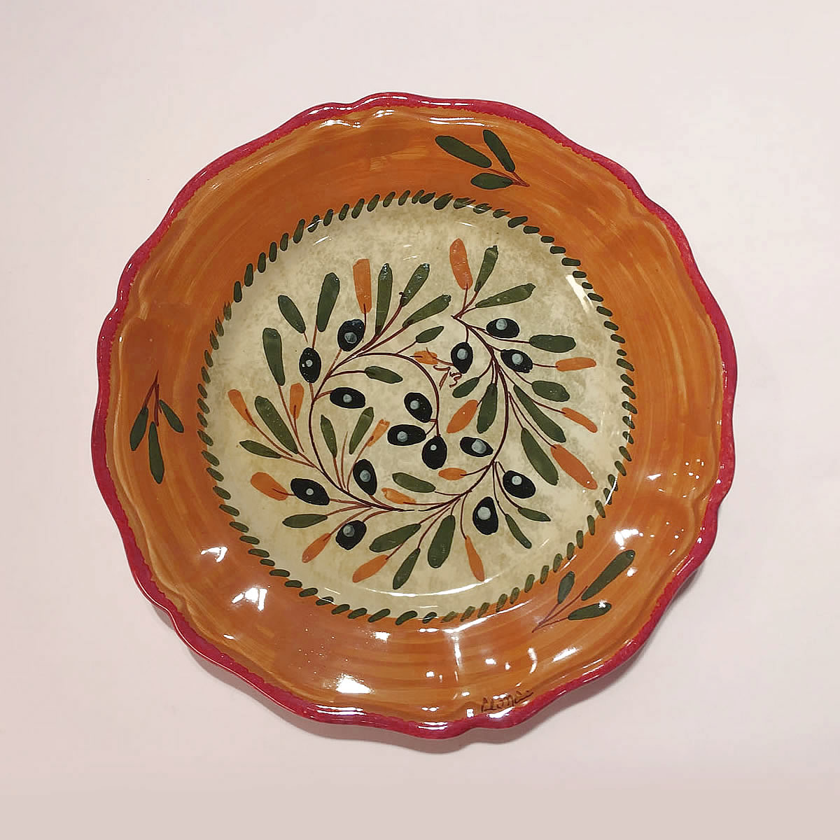 The finest hand-made hand-painted pottery and italian ceramic PLATES ... & Hand painted Ceramic plates dinnerware sets ol110 28