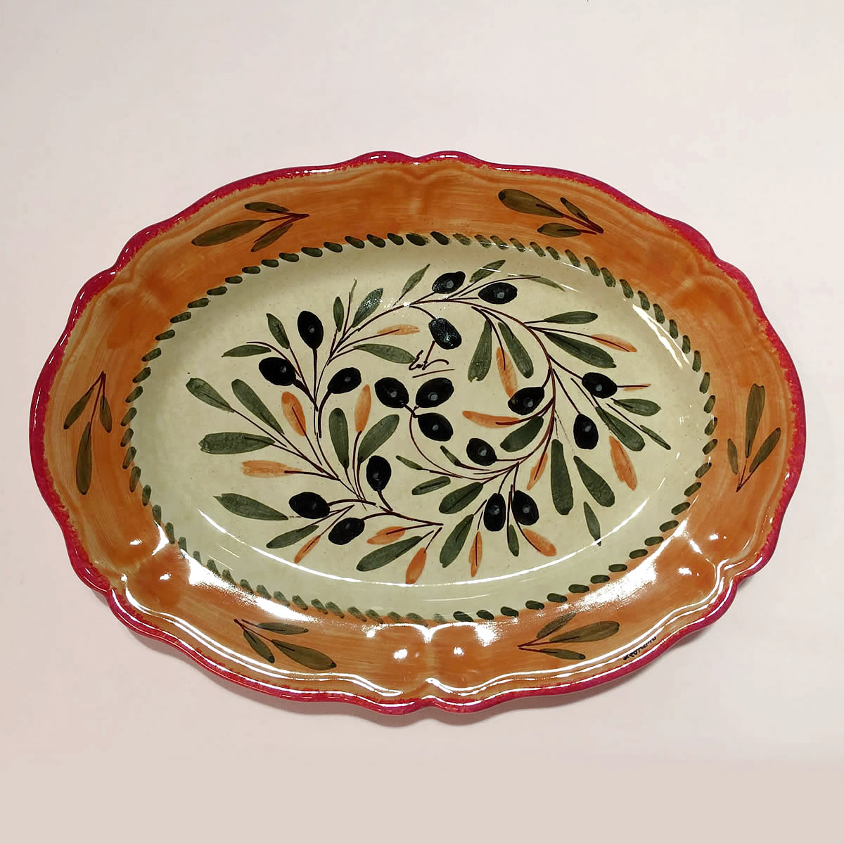 The finest hand-made hand-painted pottery and italian ceramic ... & Hand painted Ceramic trays dinnerware sets ol112 33