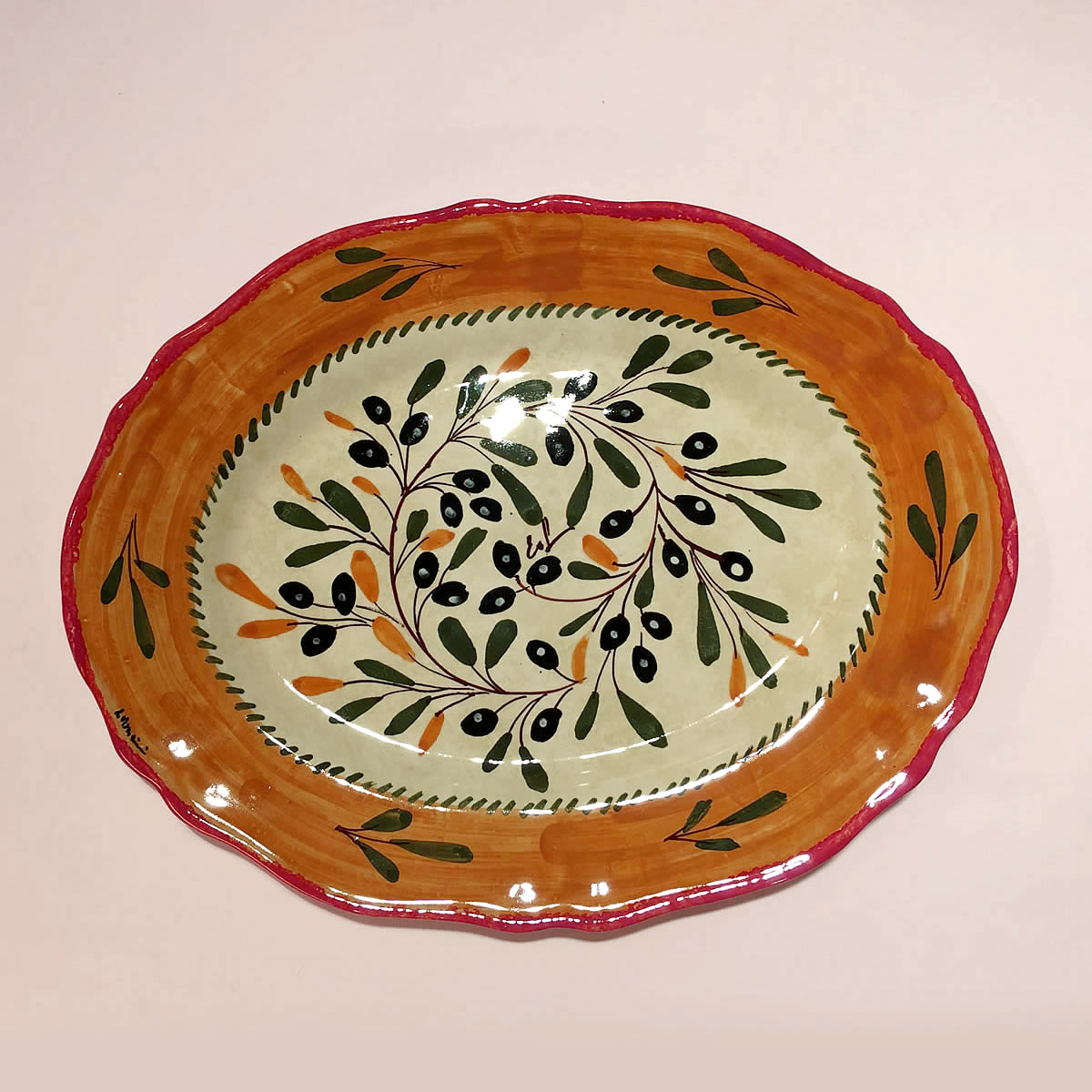 The finest hand-made hand-painted pottery and italian ceramic ... & Hand painted Ceramic trays dinnerware sets ol112 38