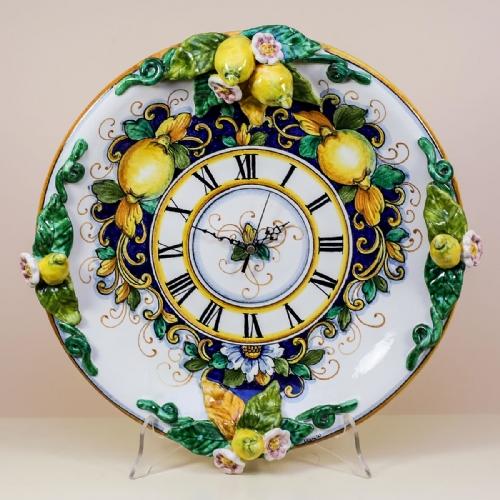 Hand Painted Italian Ceramic Wall Clocks Buy Online Leoncini