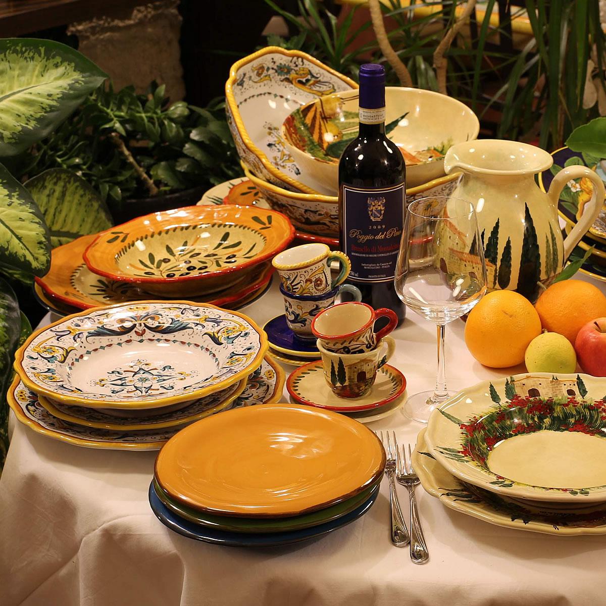 Dinnerware & Online Italian HandPainted Pottery u0026 Ceramics Leoncini Italy