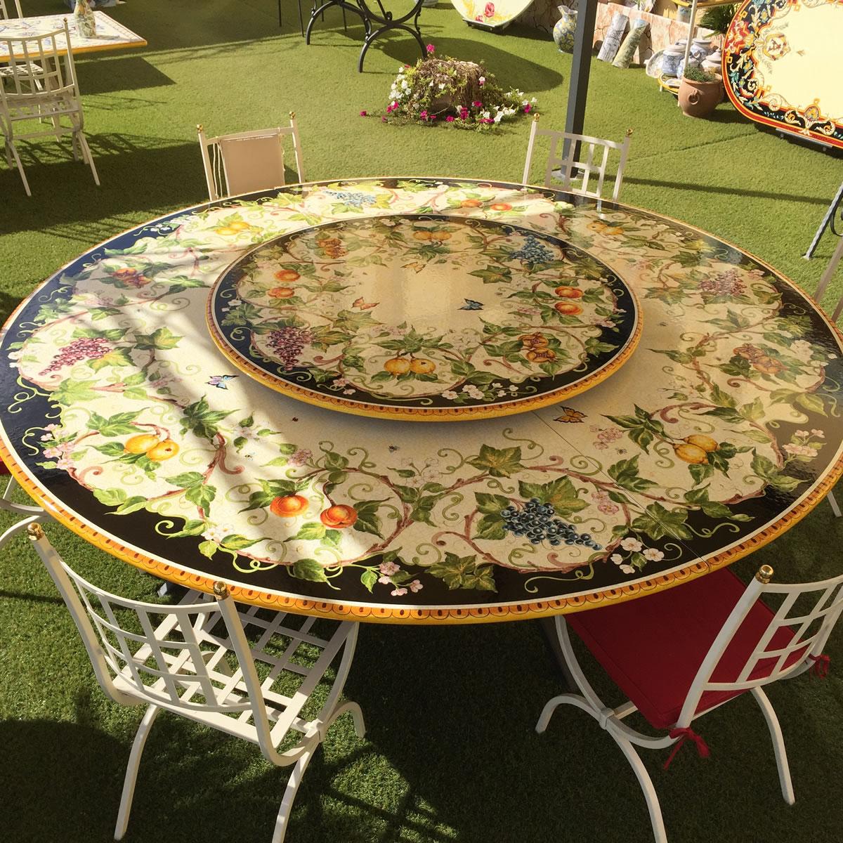 Tavoli Da Giardino Pietra Lavica.Ceramica Artistica Tavoli In Ceramica Pietra Lavica Leoncini