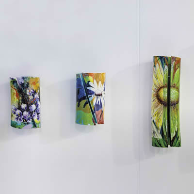 Italian hand-painted modern ceramic wall light