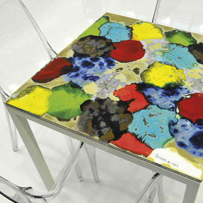 Italian modern design squared table